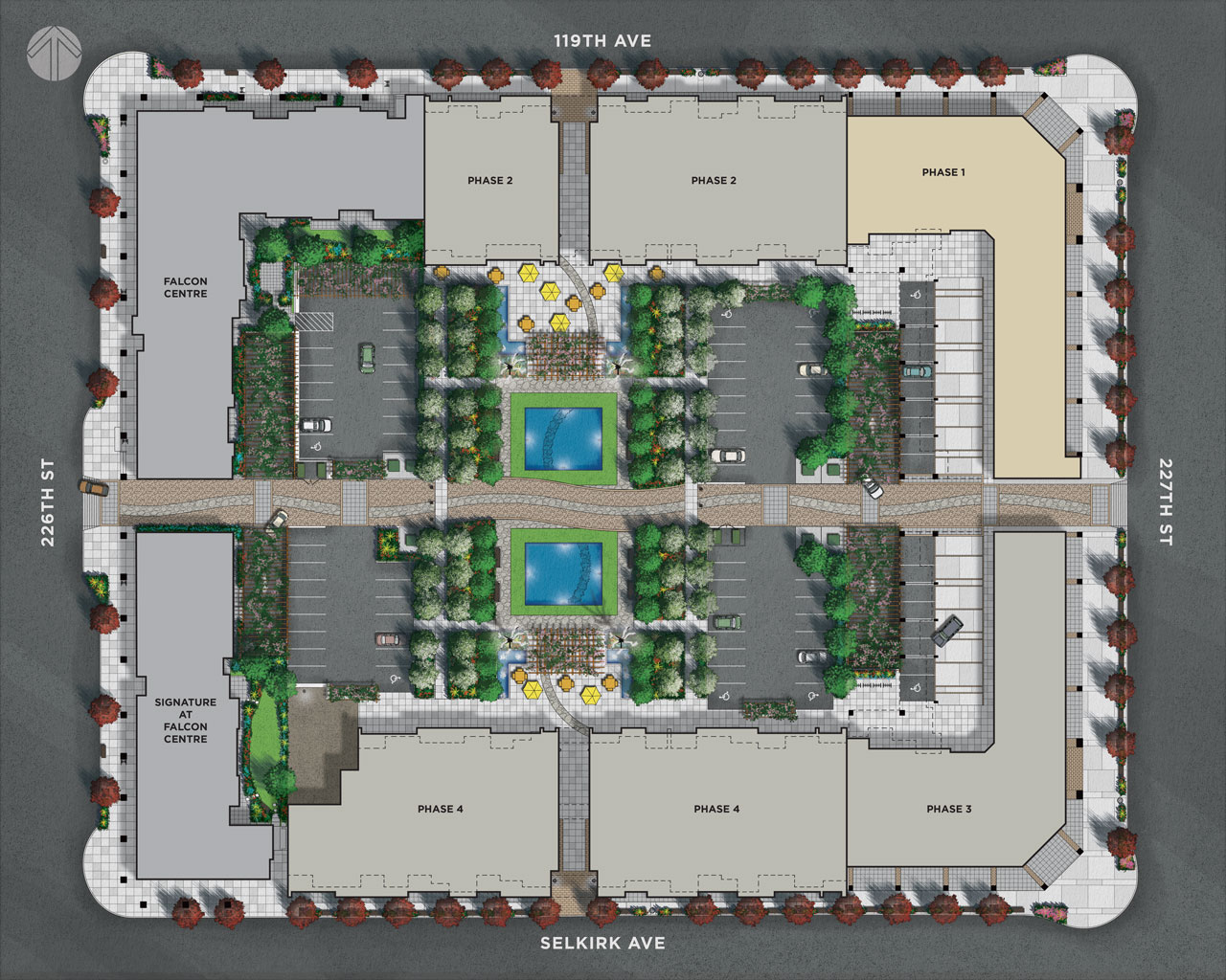 The site plan image for Brickwater Village in Maple Ridge, BC, Canada